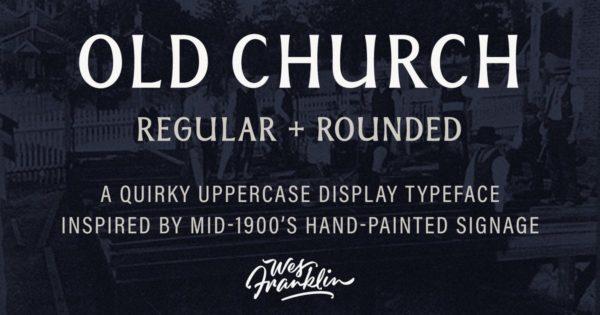 英文衬线字体素材 Old Church – Serif Display Font