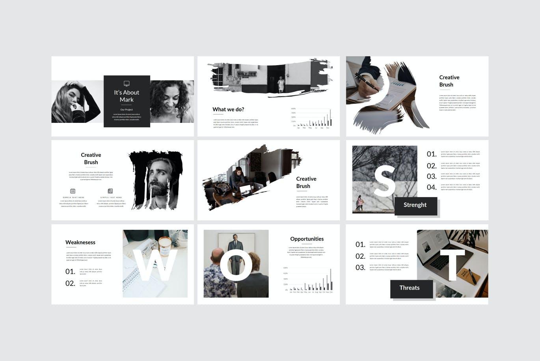 多特效抽象PPT演示幻灯片模板 Genius – Powerpoint Template设计素材模板