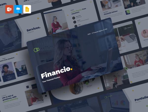 推销主题金融Keynote幻灯片演示模板