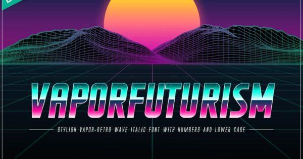 OTF字体合集汽化未来主义色彩 Vaporfuturism OTF Retrowave Font