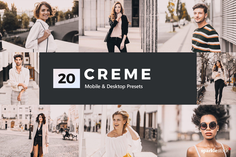 时尚人像20种Creme摄影Lightroom预设和LUTs 20 Creme Lightroom Presets & LUTs设计素材模板