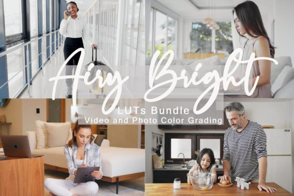 婚礼摄影&社交媒体生活LR调色预设 Airy Bright LUTs Bundle