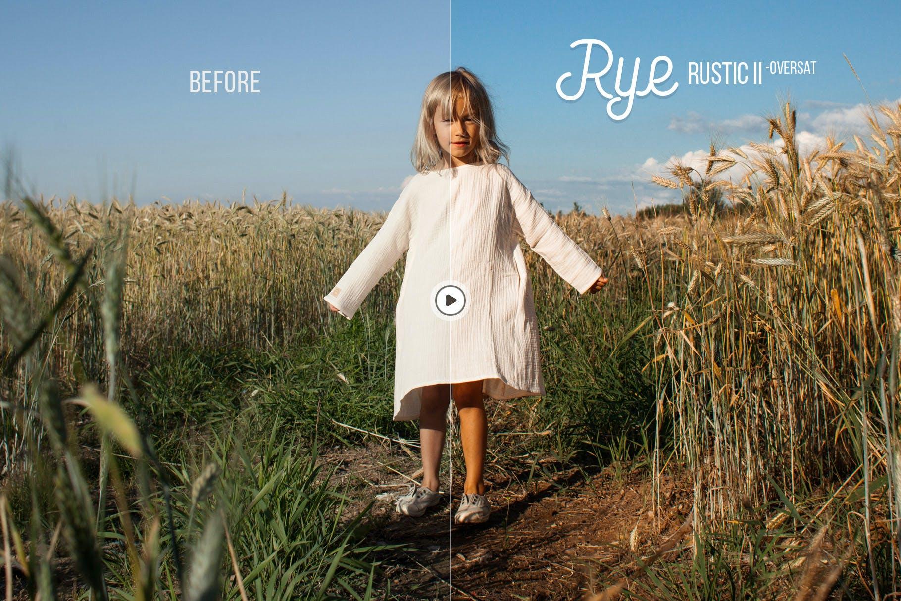 色调调校创意人像摄影LR预设 Rye Lightroom & ACR Presets设计素材模板