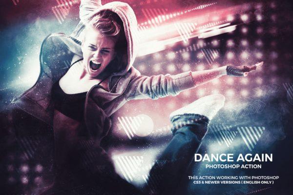 特效处理PS动作创意摄影照片 Dance Again Photoshop Action