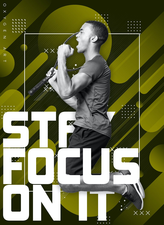 PS动作动感海报设计 Dynamical Poster Photoshop Action设计素材模板