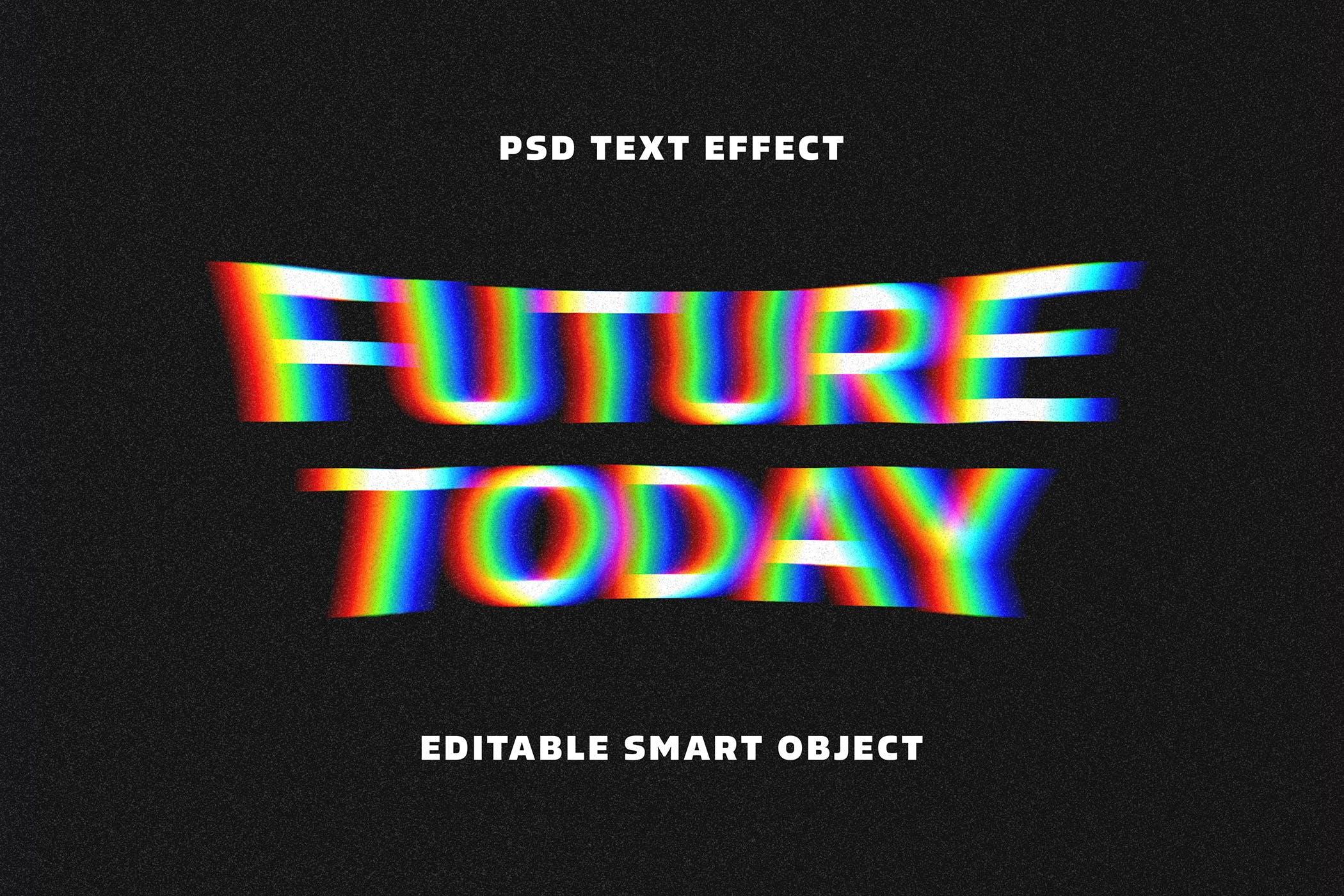 文本效果图层样式晕眩故障 Acid Glitch Text Effect设计素材模板