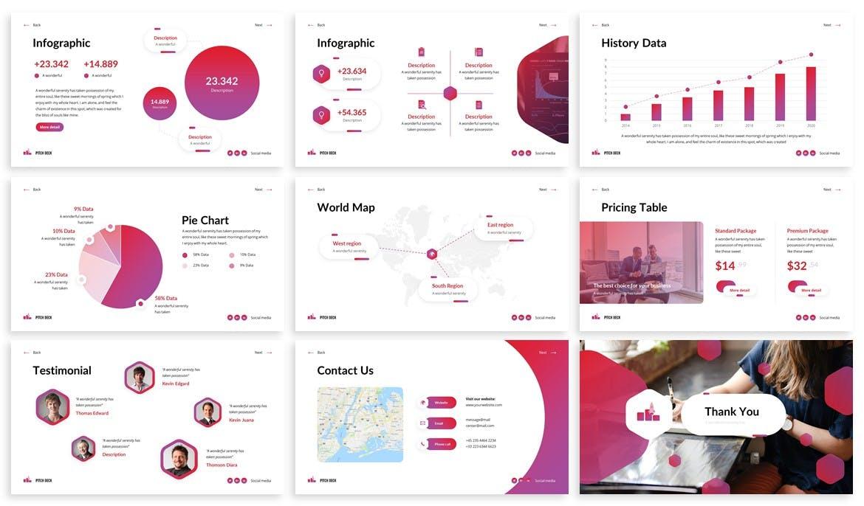 技术开发团队介绍Powerpoint模板 Shuffle – PitchDeck Powerpoint Template设计素材模板