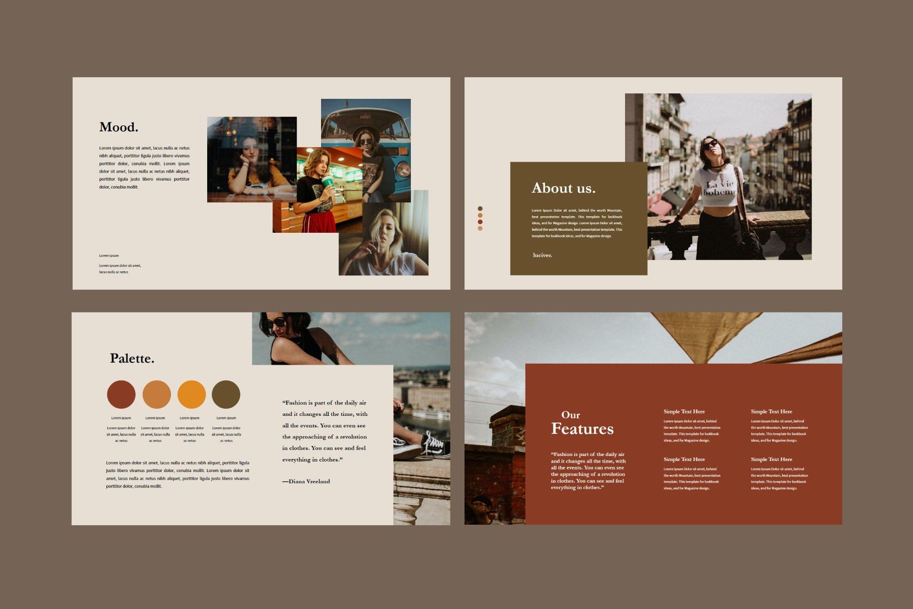 幻灯片模板旅行博主分享PPT Luciver – Powerpoint Template设计素材模板