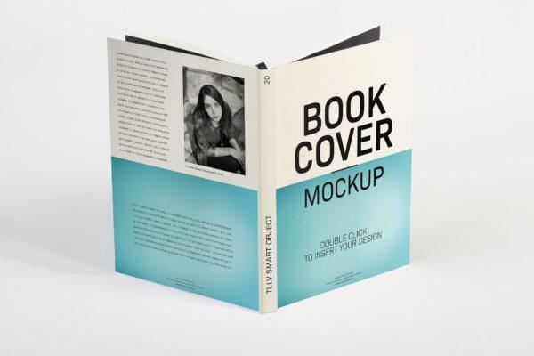 精装书设计硬底封面样机模板 Hard Cover Book Mockup