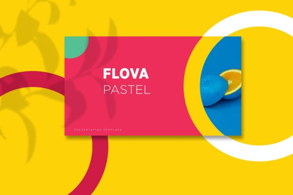 多彩风格几何圆形PPT幻灯片模板 Flova – Powerpoint Template