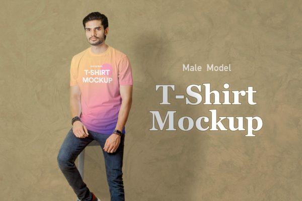 T恤印花展示样机模板v6 T-Shirt Mockup 06
