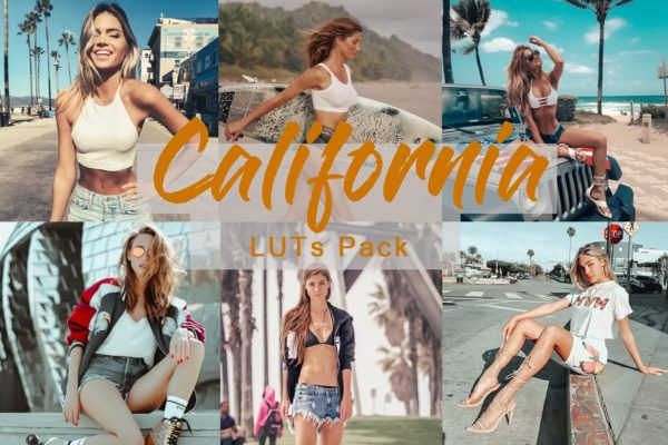 视频&加州LUTs照片后期褪色调LR预设 California |LUTs for Video and Photo Color Grading