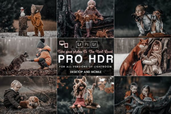 写真集专业后期处理Lightroom预设 PRO HDR Lightroom Presets ( Mobile & Desktop )