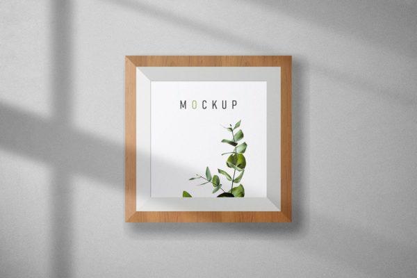 木框作品方形展示样机 Frame Mockup