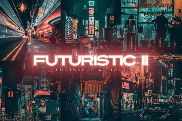 炫酷效果未来派高品质电影感第二代Photoshop动作 Futuristic Gen II Photoshop Actions