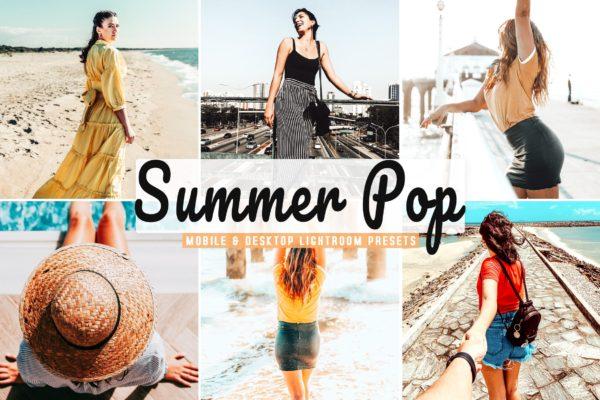 度假摄影夏季复古色彩增强LR预设下载 Summer Pop Mobile & Desktop Lightroom Presets