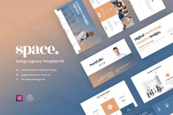 商业机构精美太空创意元素WordPress模板套件 Space – Creative Agency Template Kit