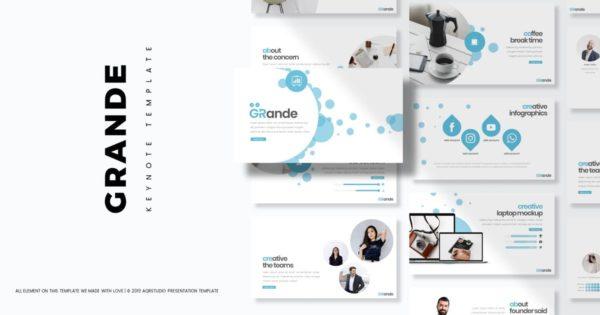 Keynote幻灯片简约风格企业演示文稿模板 Grande – Keynote Template