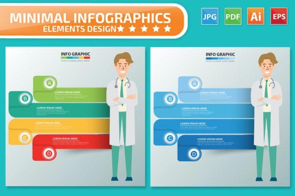 信息图表医生主题矢量设计素材 Doctor Infographics design