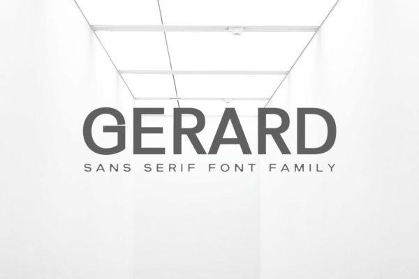品牌LOGO极简主义商业无衬线字体系列 Gerard Sans Serif Font Family