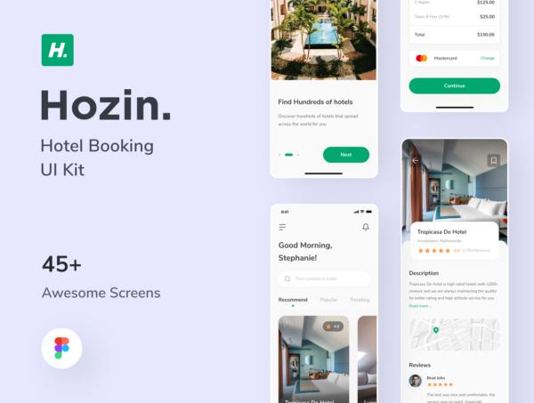App UI酒店预订设计套件