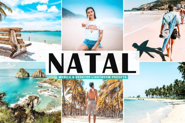 摄影褪色调海边度假Lightroom预设 Natal Mobile & Desktop Lightroom Presets