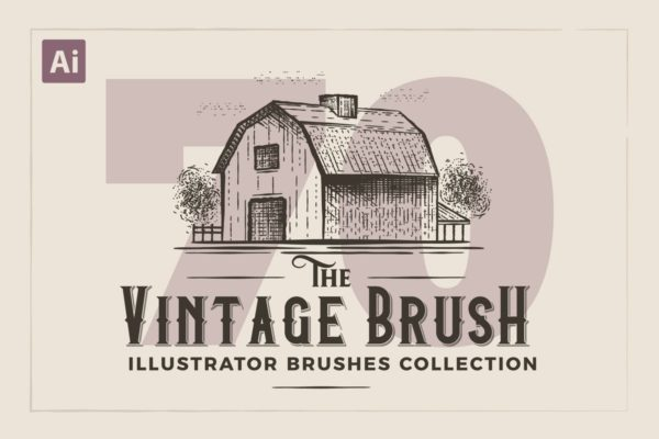 雕刻画复古Illustrator画笔 Illustrator Vintage Engraving Brushes