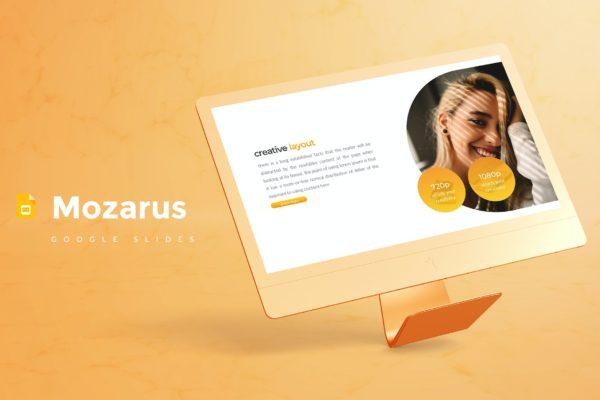 Google幻灯片创意排版设计时尚模板素材 Mozarus – Google Slides Template