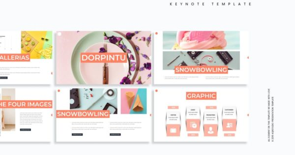 Keynote创意模板蛋糕甜点主题 Dorpintu – Keynote Template