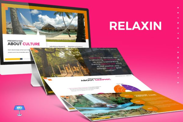 Keynote模板露营吊床演示 Relaxin – Keynote Template
