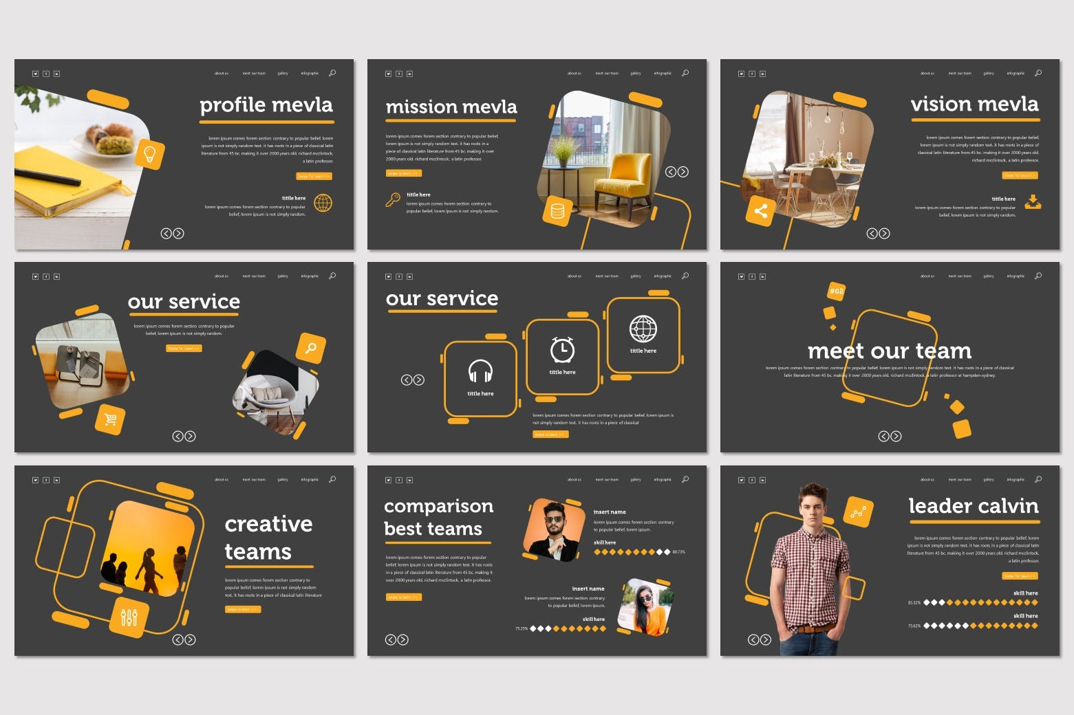 产品展示智能手表样式Keynote幻灯片设计模板 Mevla – Keynote Template设计素材模板