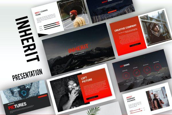 PPT幻灯片模板探险旅行项目下载 Inherit Creative Powerpoint
