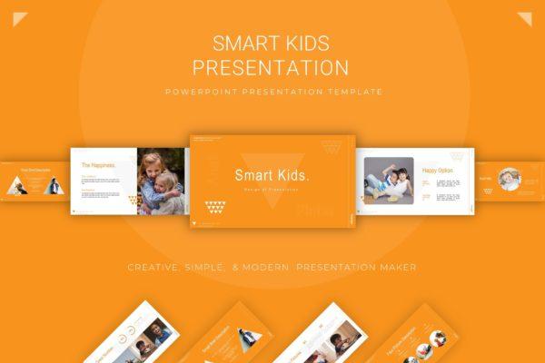 儿童背景PPT模板温馨活泼可爱 Smart Kids Presentation