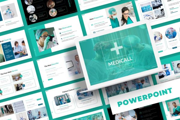 PPT演示文稿医疗主题 Medicall – Powerpoint Template