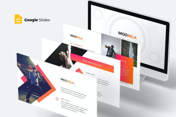 谷歌幻灯片素材时尚现代风格 Moonela – Google Slides Template