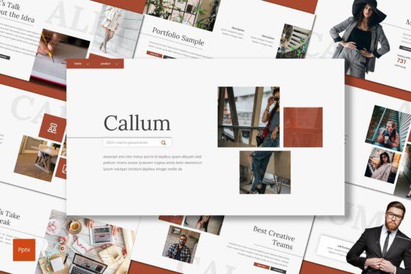 极简创意独特个性风PPT模板 Callum 2020 Creative Presentation