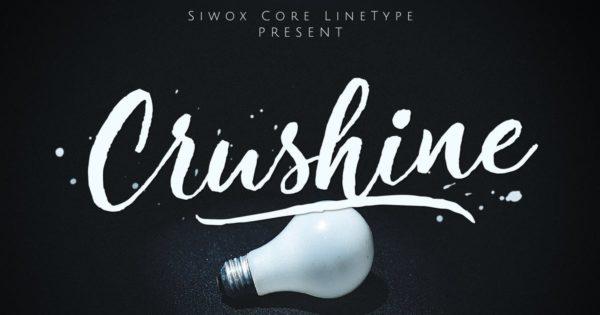 英文手写不规则笔刷字体&网页字体 Crushine Wet Brush + Webfonts
