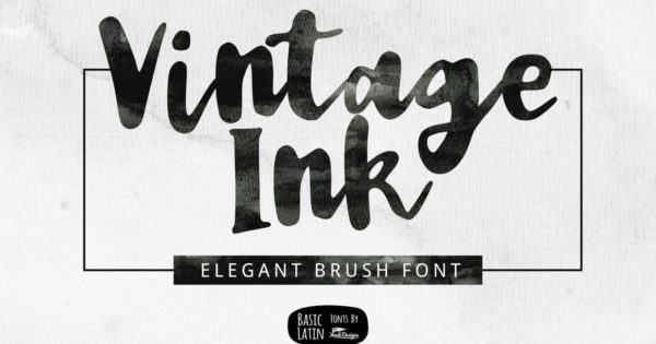 优雅简单的多用英文手写笔刷字体 Vintage Ink Font
