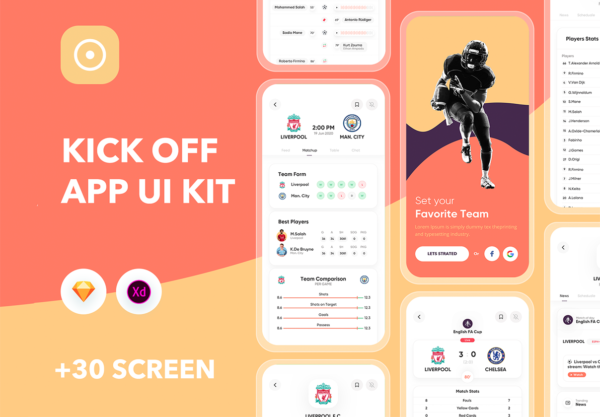 资讯类APP体育运动 UI KIT