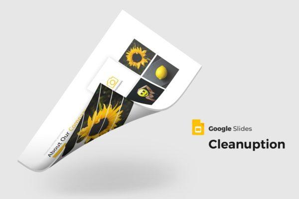 谷歌幻灯片摄影作品展示模板下载 Cleanuption – Google Slides Template