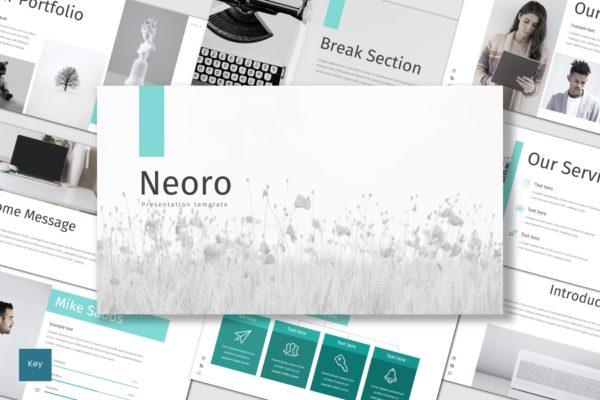 演示文稿Keynote模板 Neoro – Keynote Template