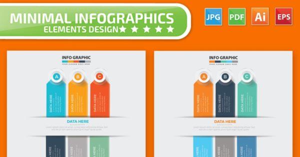 步骤/多用途的PPT幻灯片设计信息图表项目/流程说明矢量图形素材v2 Infographic Design