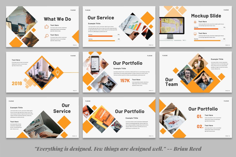 幻灯片PPT素材企业战略分析SWOT Flocue Business SWOT Presentation设计素材模板