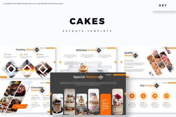 幻灯片模板素材生日蛋糕Keynote Cakes – Keynote Template