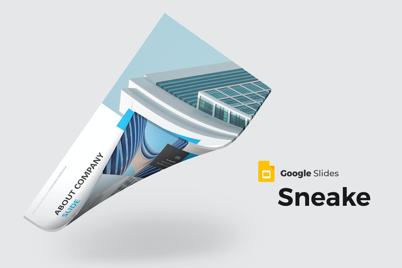 Google幻灯片都市建筑设计模板下载 Sneake – Google Slides Template设计素材模板