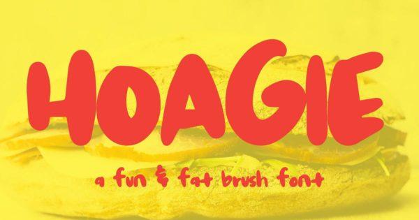 英文无衬线创意手绘字体素材 Hoagie Brush Font
