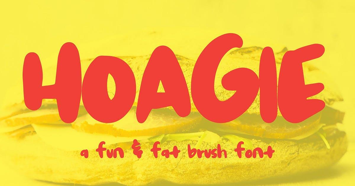 英文无衬线创意手绘字体素材 Hoagie Brush Font设计素材模板